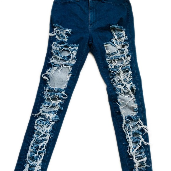 vibrant m.i.u. Denim - Vibrant miu Ripped Destroyed Jeans Juniors Size 15